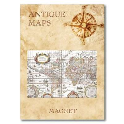 IMÁN Antique Maps - Map of the World