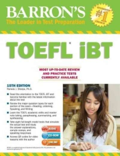 Barron's TOEFL iBT with CD ROM and MP3-Audio CD (15th ed)