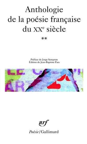 Pasajes Librería Internacional Anthologie De La Poésie
