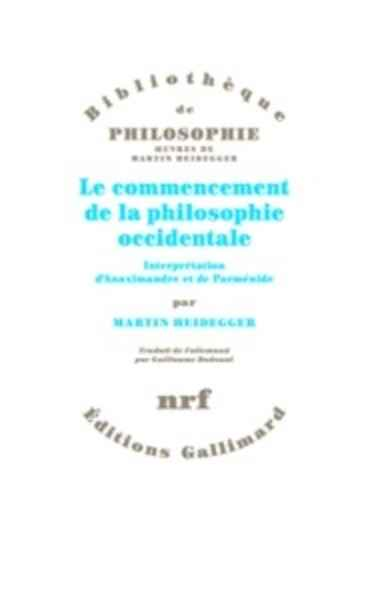 Le commencement de la philosophie occidentale