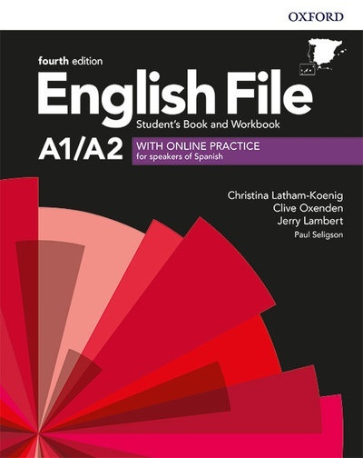 English File Elementary 4th Edition A1/A2. Student's Book and Workbook with Key Pack