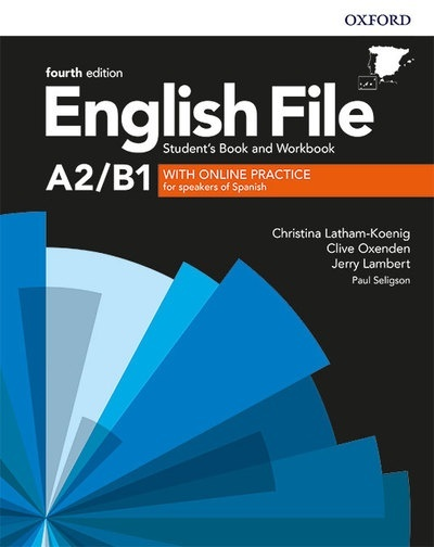 English File Pre Intermediate 4th Edition A2/B1. Student's Book and Workbook without Key Pack