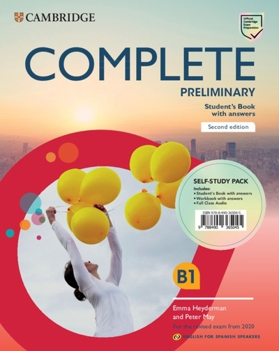 Complete Preliminary Self-study pack (Student's Book with answers and Workbook with answers and Class Audio) Eng